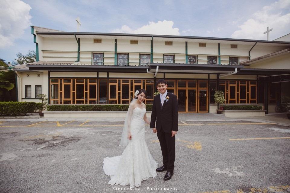 Church Wedding Ceremony Petaling Jaya St. Francis Xavier's SFX and Renaissance Hotel KL _KL Photographer_029
