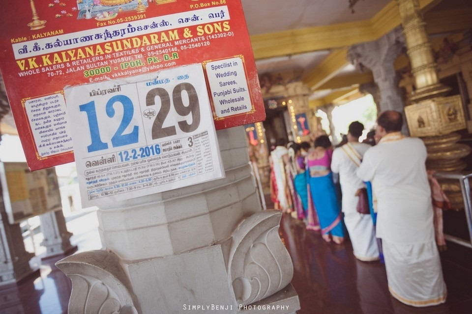 Tamil Hindu Wedding Ceremony at Railway Maha Ganapathy Temple and Reception at Adonis Bridal Ipoh_KL Photographer_237