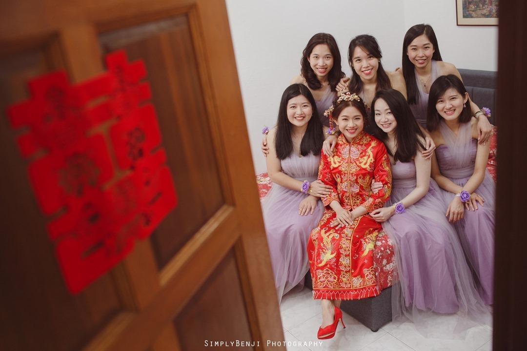 010_Bridal Party Purple Bridesmaids Dress_Chinese  Wedding Gate Crashing at Petaling Jaya_011