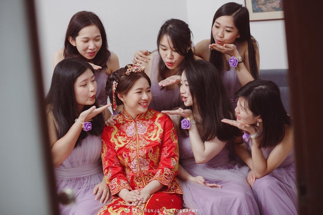 011_Bridal Party Purple Bridesmaids Dress_Chinese Wedding Gate Crashing at Petaling Jaya_012