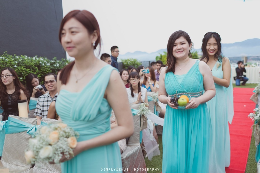 030_Buddhist Garden Style Rooftop Wedding Ceremony & Reception at WEIL Hotel Ipoh Tiffany Blue Theme Bridesmaids Dress _00004