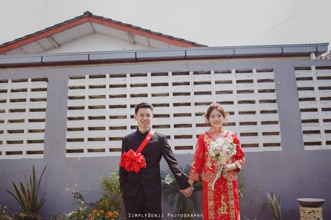031_Bridal Couple Portrait_Chinese Wedding Gate Crashing at Petaling Jaya_032